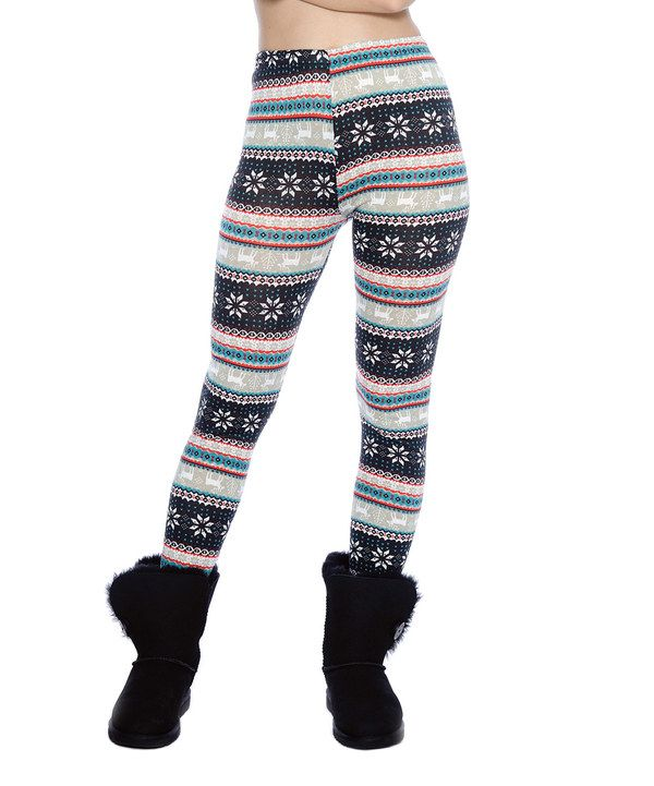 Look at this Navy & Gray Fair Isle Leggings on #zulily today ...