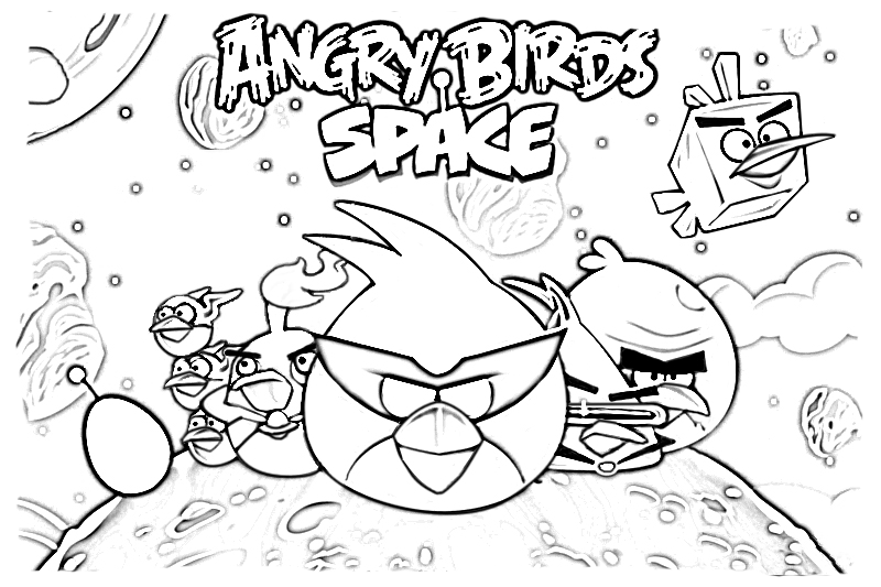 Angry Birds Space Coloring Pages Space Coloring Pages Coloring Pages Angry Birds Party