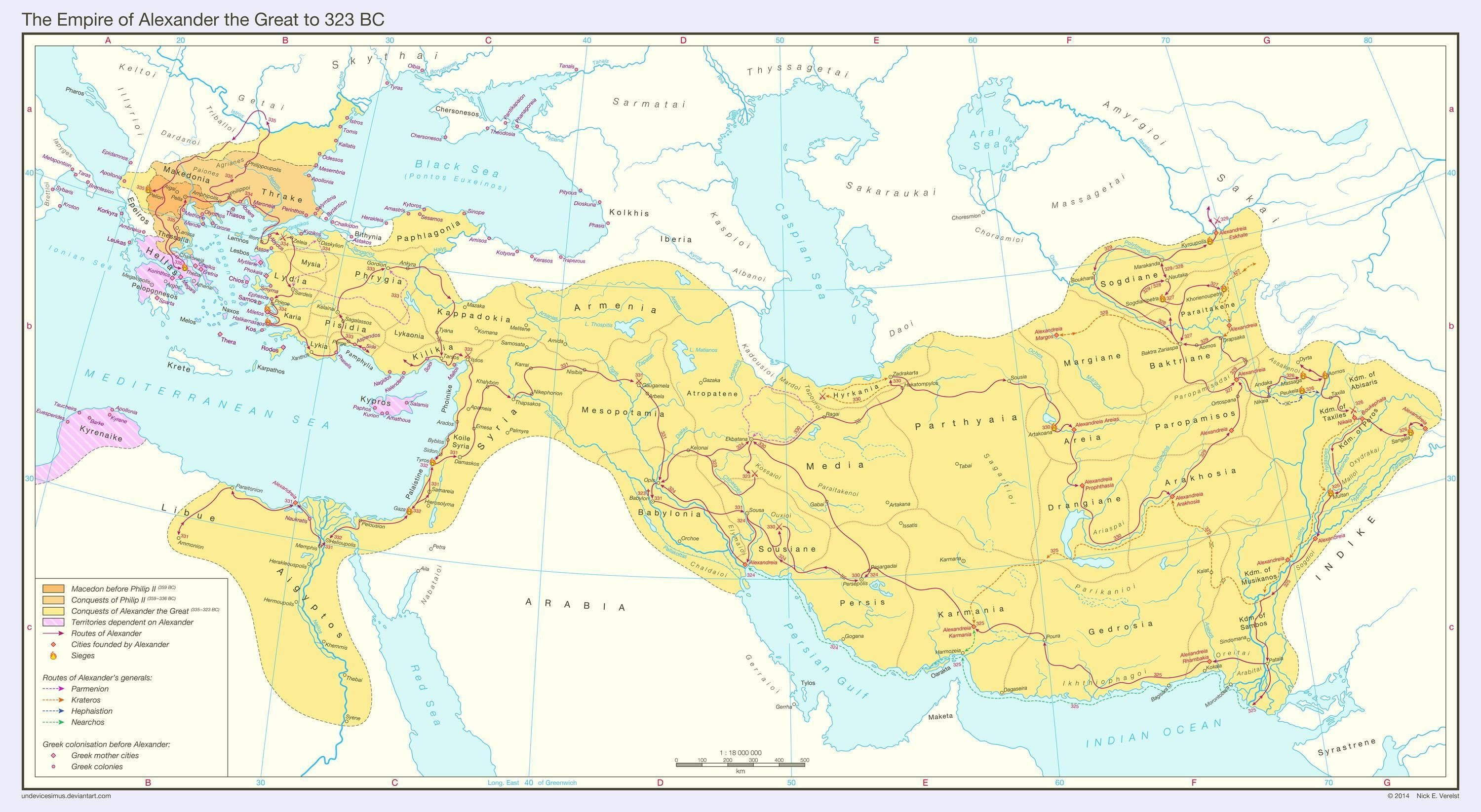 The Empire Of Alexander The Great To 323 Bc