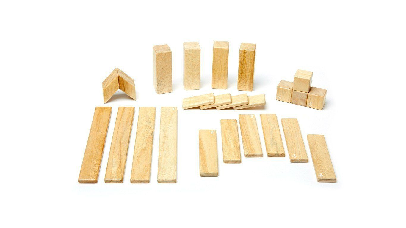 24 Piece Block System Blossom By Tegu Wooden Building