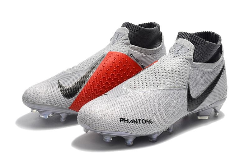 7835e3641f0ed Nike Phantom Vision Elite Dynamic Fit FG Cleat - Grey Red