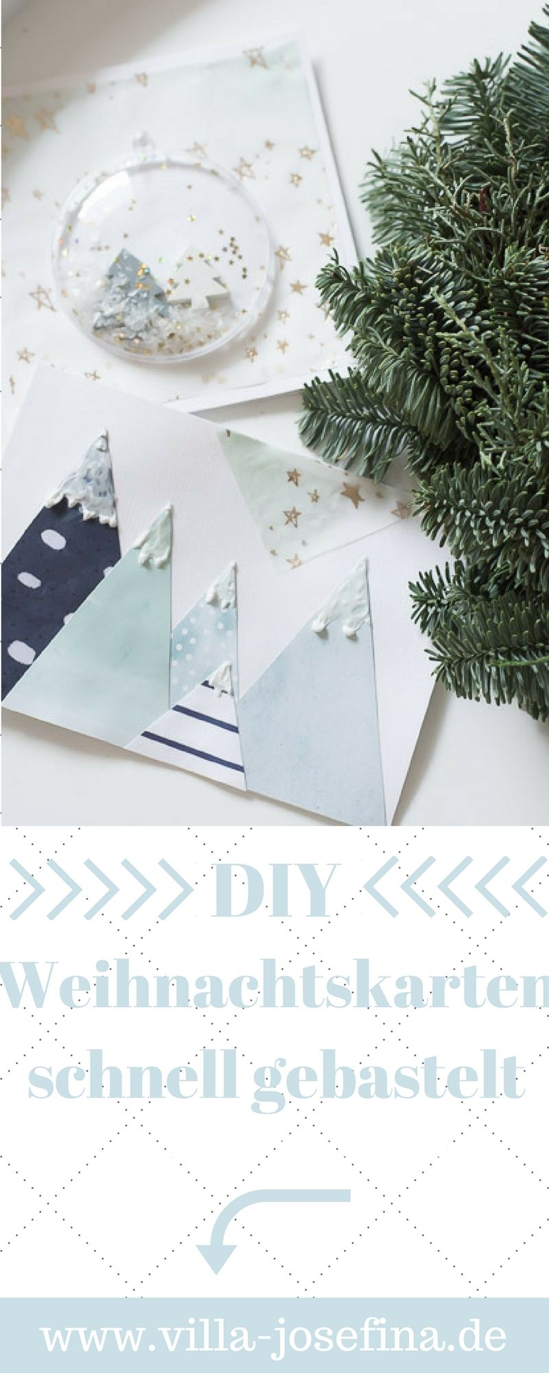 Persönliche Weihnachtskarten Foto.Weihnachtskarten Selbst Basteln Geschenkideen Verpackungen