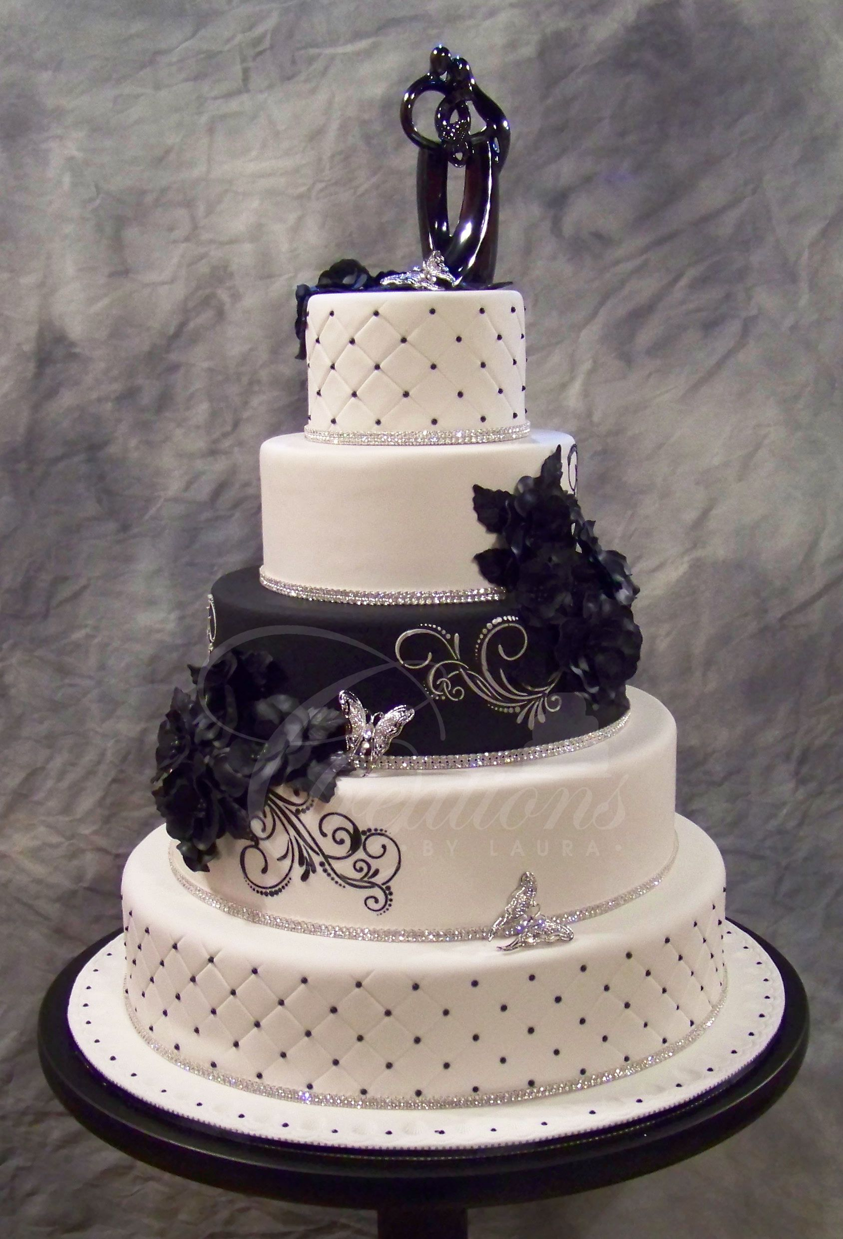 Black Wedding Cakes With Bling