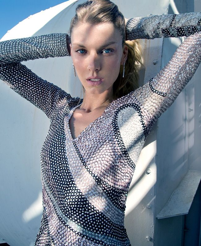 Supermodel Angela Lindvall poses for photographers July 25
