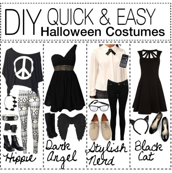 DIY quick & easy Halloween Costumes ♥