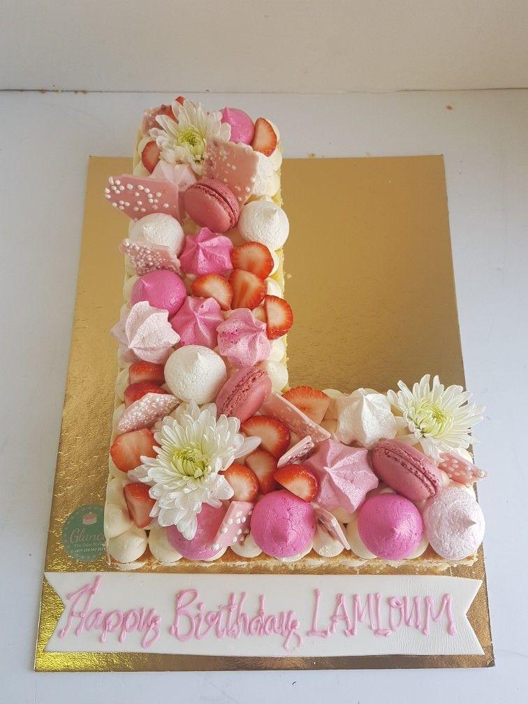 Awe Inspiring Letter L Cake Cake Lettering 15Th Birthday Cakes Alphabet Cake Birthday Cards Printable Riciscafe Filternl