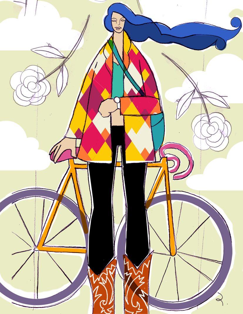 bike bicicleta illustration