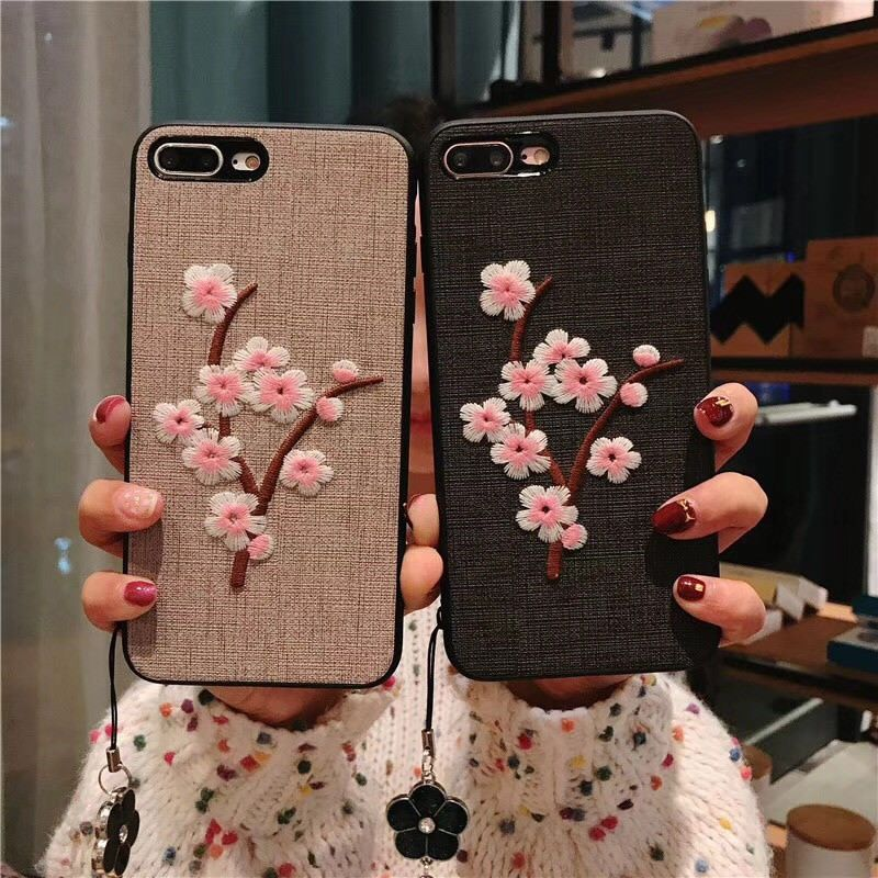 super popular f1e66 64928 $5.98 - For Samsung Galaxy S9 S9+ Note 8 Cute Embroidery Flower Soft ...