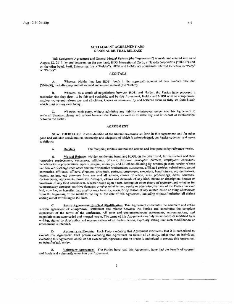 Settlement Agreement And Release Of All Claims Template from i.pinimg.com