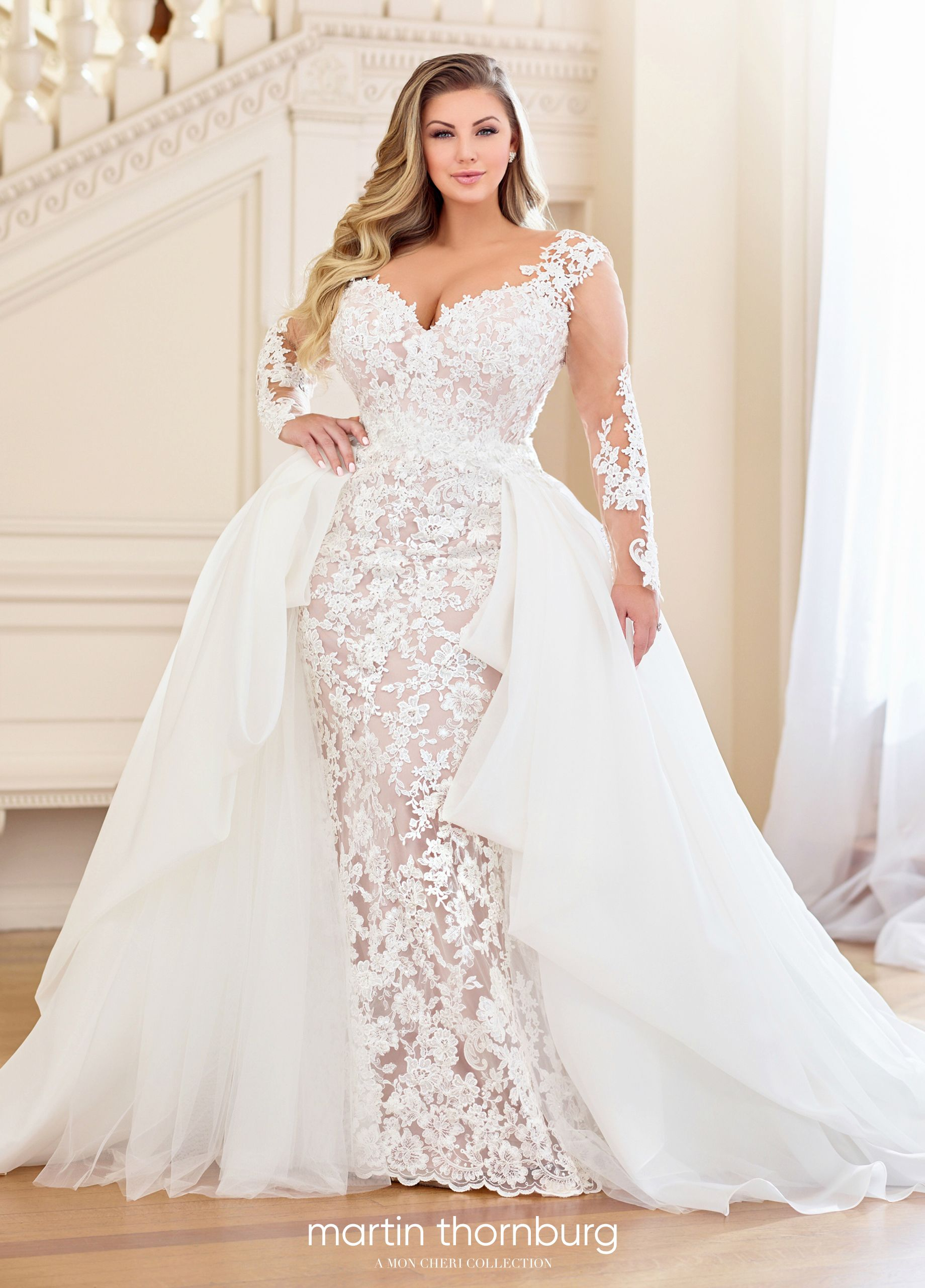 Martin Thornburg Dolores Detachable Train Wedding Dress Wedding Dresses Plus Wedding Dresses