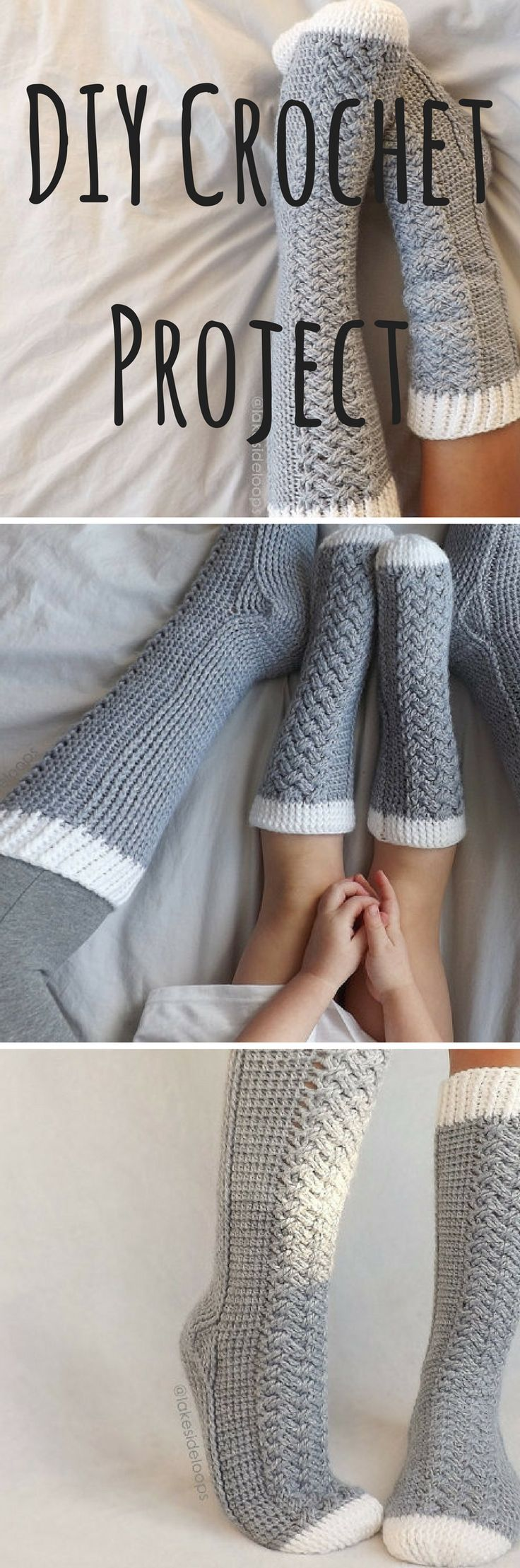 This Crazy Cozy Crochet Cable Sock Pattern Makes 11 Different Sizes