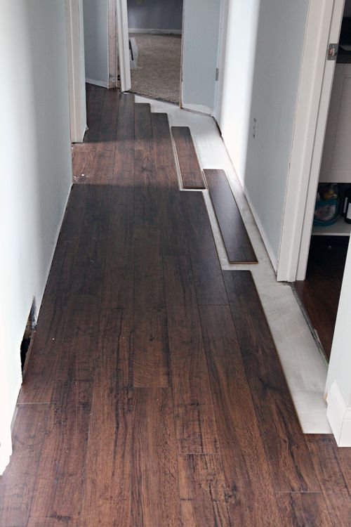 Do It Yourself Floating Laminate Floor Installation Installing