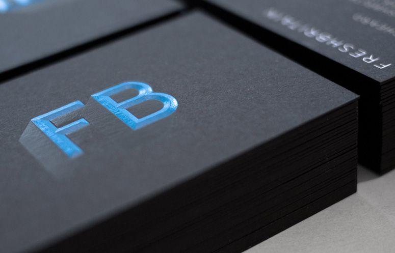 FreshBritain Business Card Emboss Foilstamp Carte De Visite Cartes Identite Visuelle D
