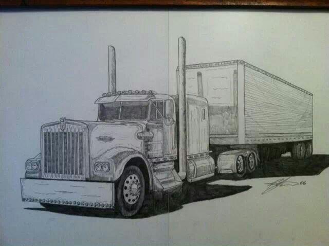 Pin By James Seidl On Truck Art Truck Art Western Star Trucks Truck Tattoo