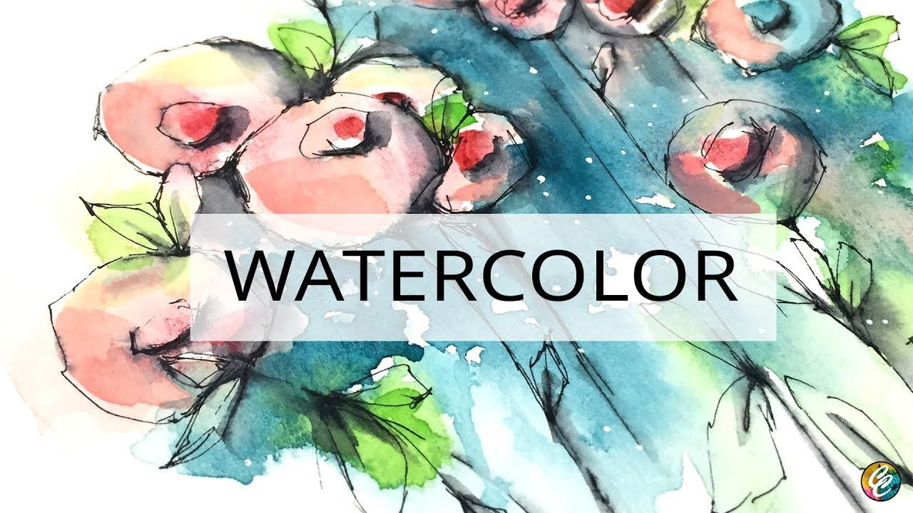 Watercolor Doodling Flowers Testing 2 New Brushes A Video