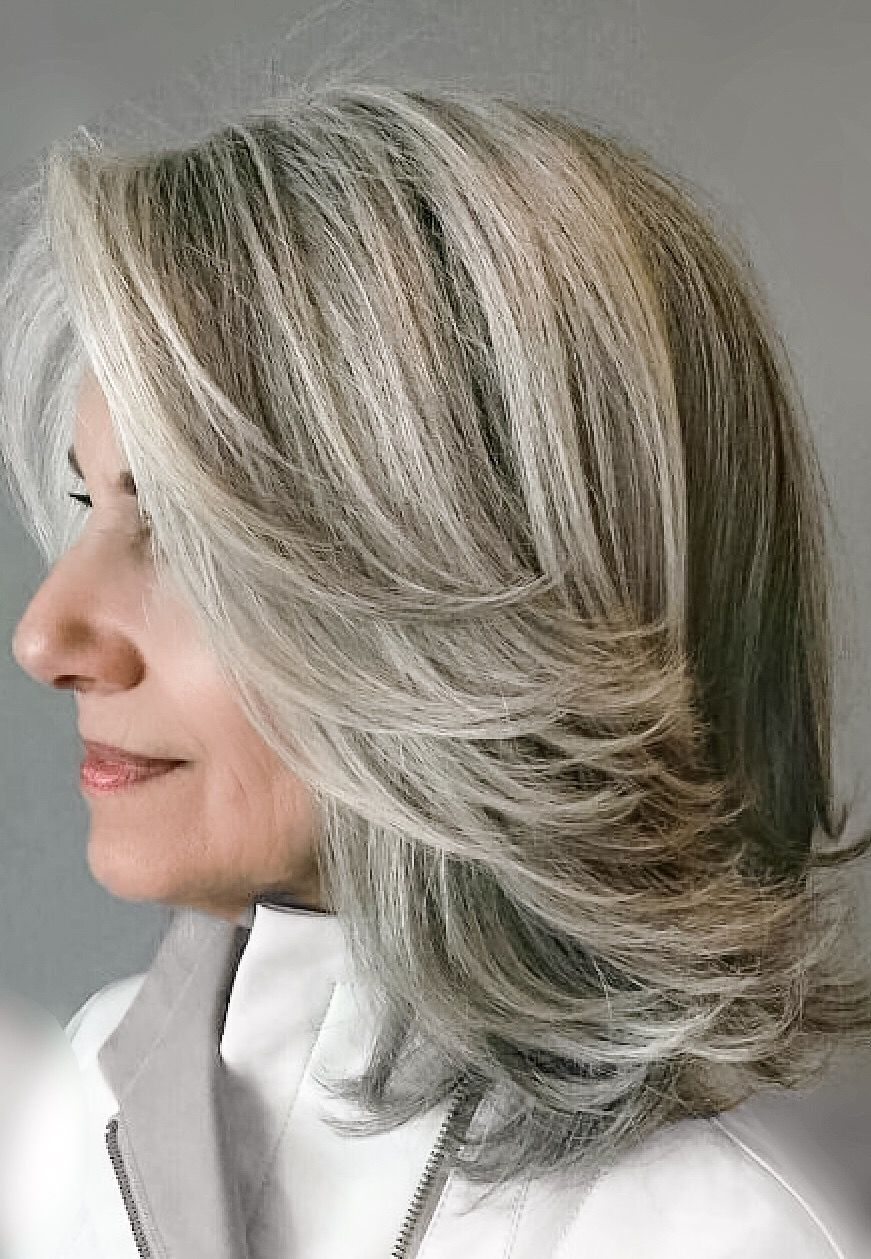 Gray Highlighted Hair Gray Hair Highlights Blending Gray Hair Hair Highlights And Lowlights