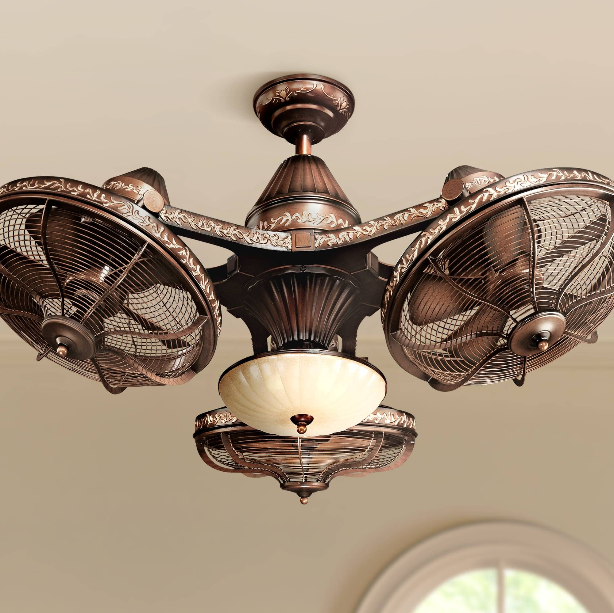 38 Esquire Rich Bronze Finish 3 Head Ceiling Fan
