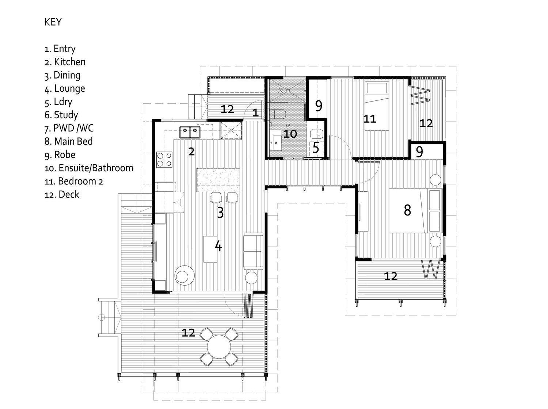 Lincoln 2b Floor Plan 60sqm Small House Granny Flat Small House Australia