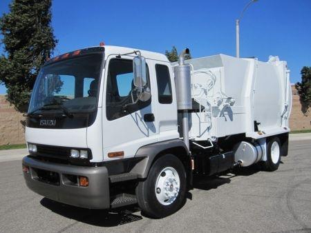2006 Isuzu Garbage Truck For Sale With Bridgeport Ranger 12 Yard Automated Side Loader Isuzu 7 8l 230hp Engine Allison 2 Trucks For Sale Garbage Truck Trucks