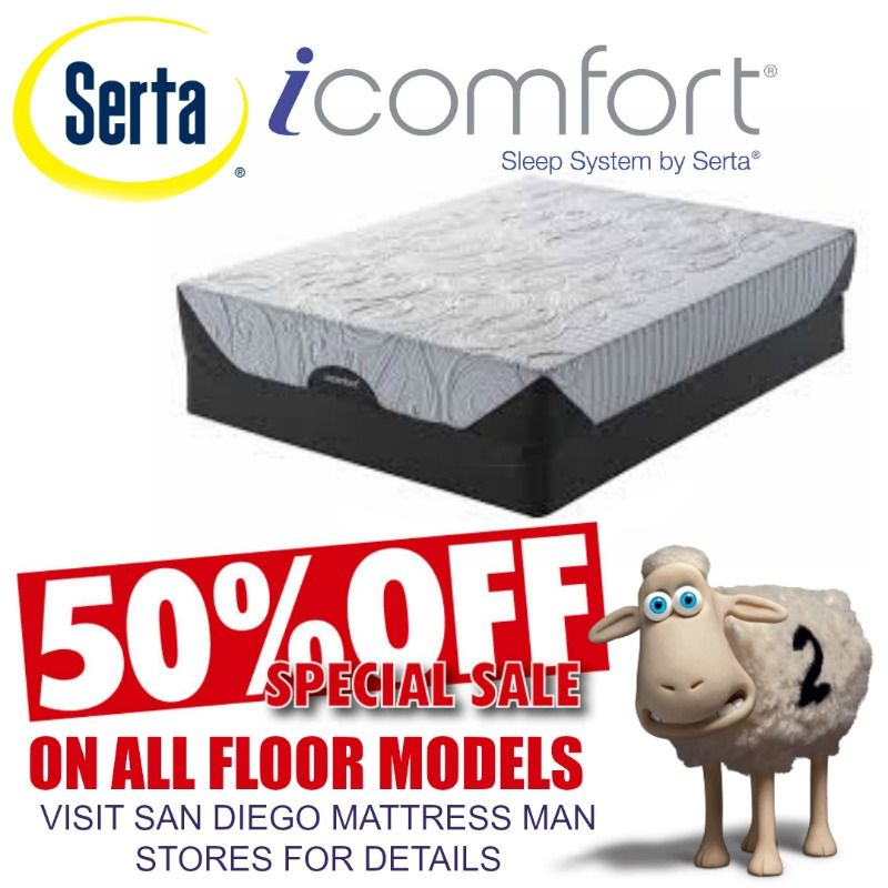 Serta I Comfort Floor Model Mattress Sale 50 Off San Diego