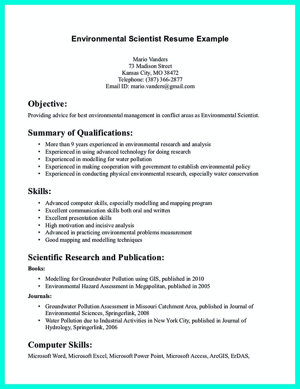 Sample Biotech Cover Letter Data Scientist Resume Include Everything About Your Education