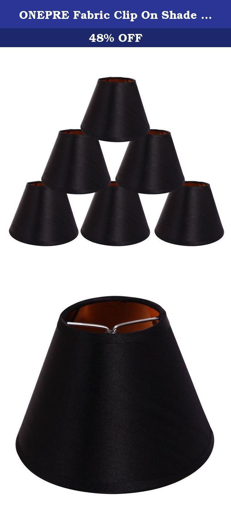 Onepre fabric clip on shade chandelier lamp shades 55 inch onepre fabric clip on shade chandelier lamp shades 55 inch hardback black arubaitofo Choice Image