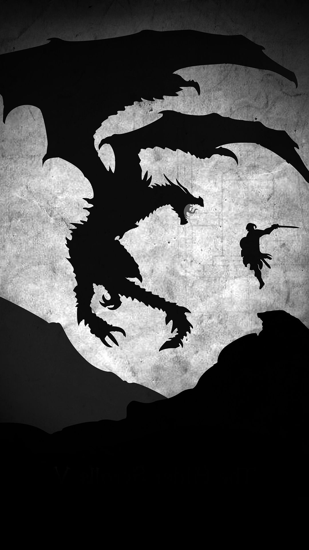 Skyrim Dragon Illustration Art Bw Iphone 6 Wallpaper Skyrim Wallpaper Skyrim Dragon Skyrim Wallpaper Iphone