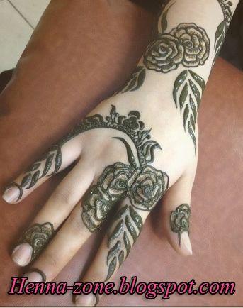 شكل وردة الجوري نقش حناء 2014 منتدى اناقة و موضة ربة المنزل والبنات Henna Designs Mehndi Designs Hand Henna