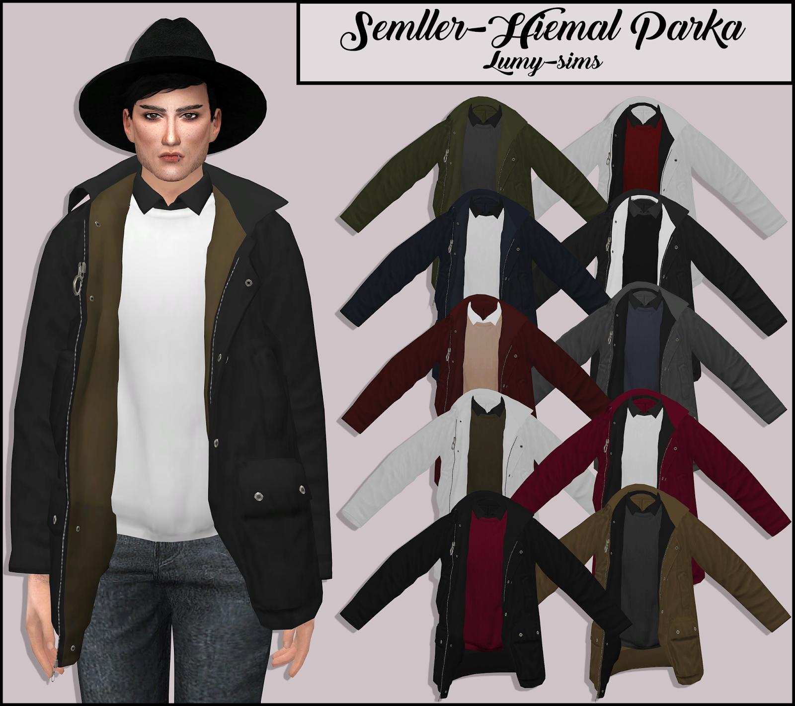 Sims 4 cc parka jacket