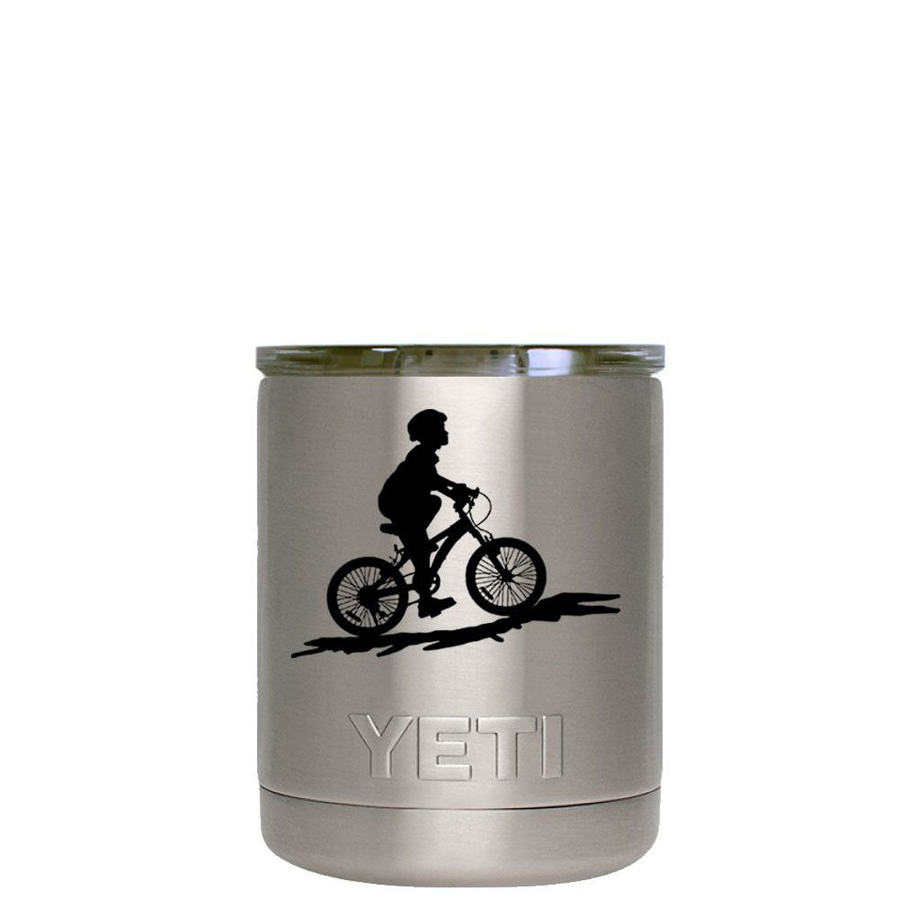 YETI 10 oz LowBall Bicycle Laser Etched