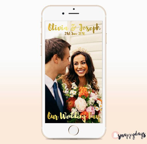 SNAPCHAT Geo Filter Weddings/ Events, Geofilters for On Demand