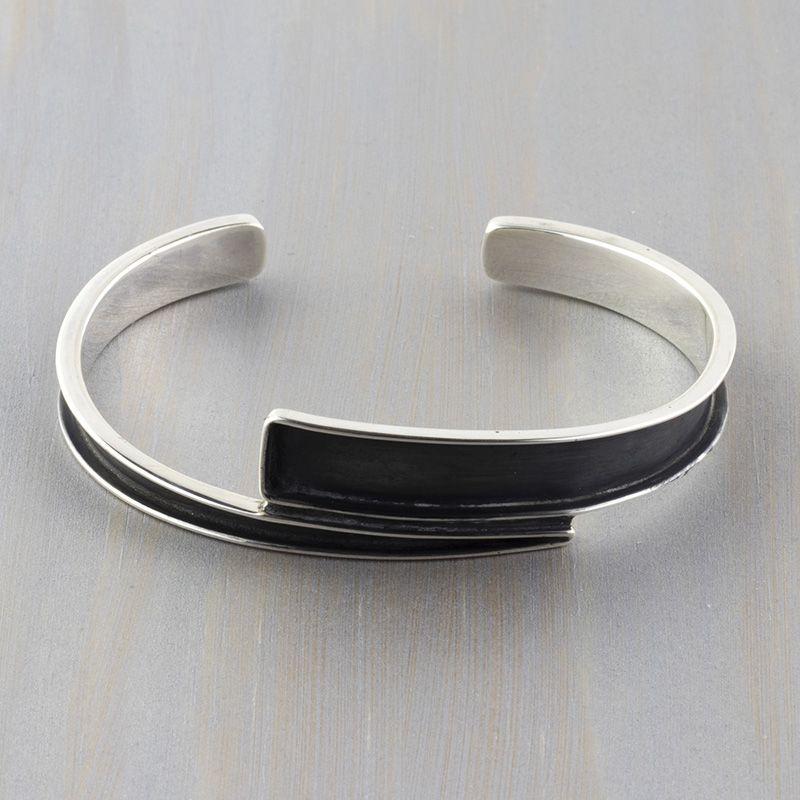 a0e4fd6ddb5 Oxidized Sterling Silver Cuff Bracelet
