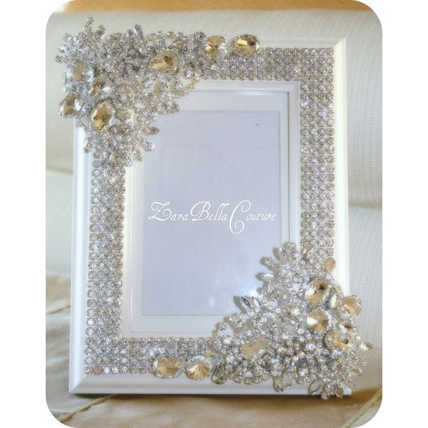 Crystal Encrusted 4x6 swarovski sparkle jeweled picture photo frame ...