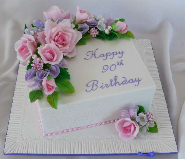 Image Result For Happy 90th Birthday Cake Images