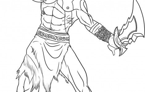 how to draw kratos coloring page - How To Draw Coloring Pages