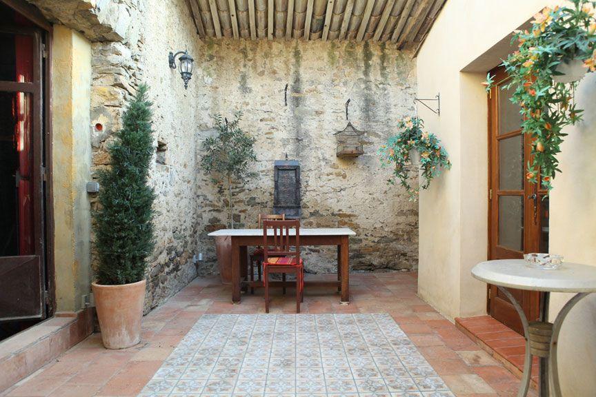 Mediterranean style luxury rental property in the south for Mediterranean courtyard designs