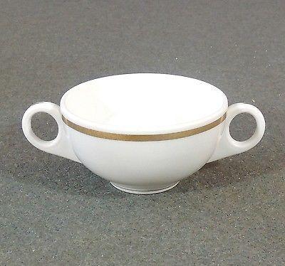 Shenango-Restaurant-Ware-Double-2-Handle-Bouillon-Cream-Soup-Cup-Bowl-Gold-Band
