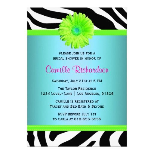 Blue green and pink bridal shower invitation shower invitations blue green and pink bridal shower invitation filmwisefo Images