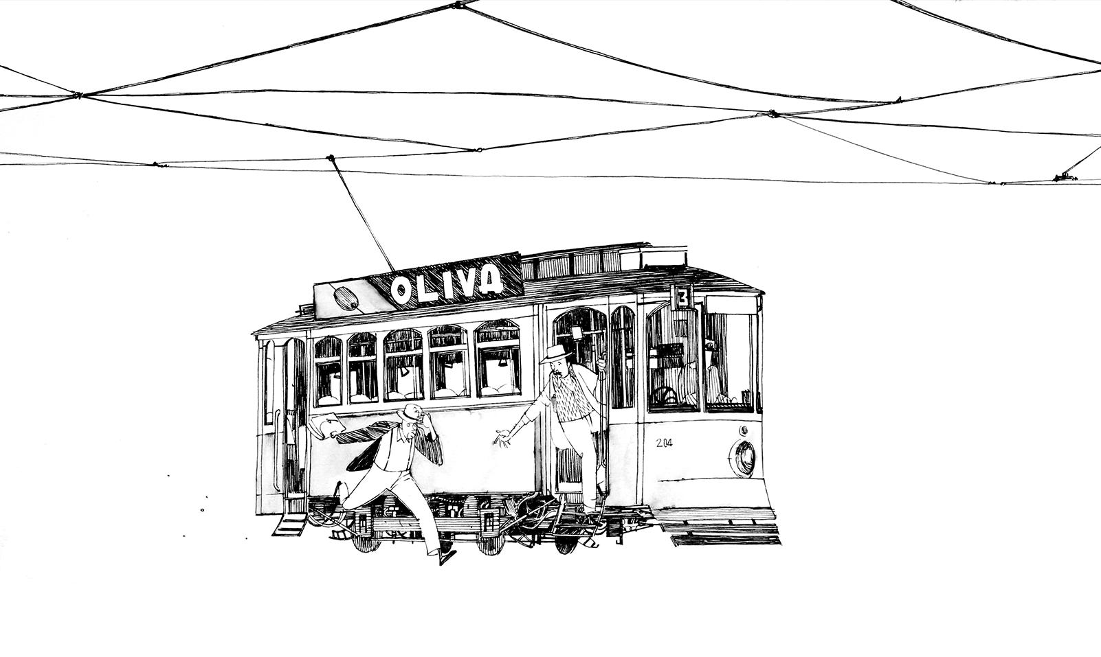 Matteo Berton / lisbon tram | Illustration / Line Drawings ...
