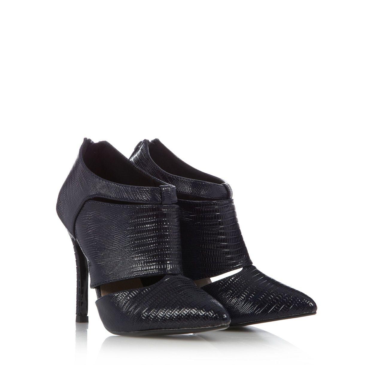 Black sandals debenhams - Faith Navy Lizard Effect Patent High Court Shoes At Debenhams Com