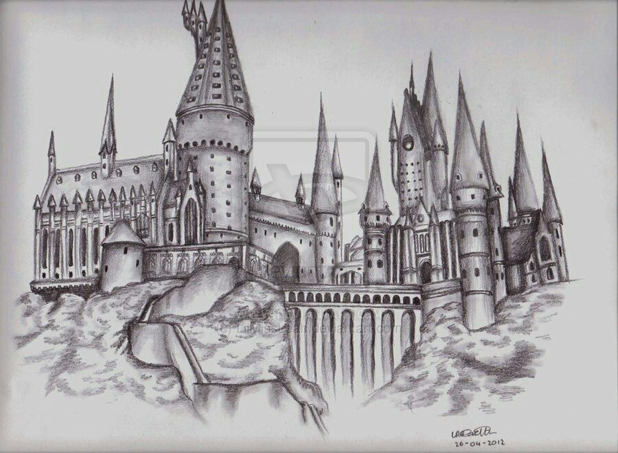 Hogwarts Sketch Harry Potter Harry Potter Sketch Harry Potter Castle Hogwarts Castle Tattoo