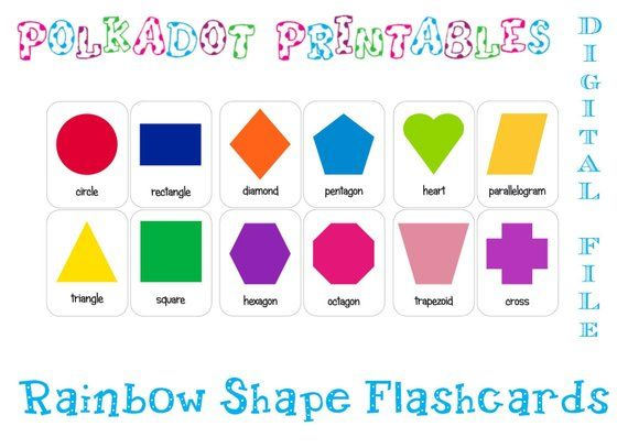 picture about Free Printable Shape Flashcards called Printable Form Flashcards Mounted of 12 - Quick Down load