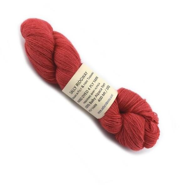 Red Hand Dyed 4ply Baby Alpaca Yarn | Shop Wool Online