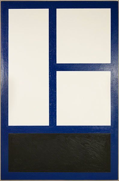 ANDREW SPENCE (AMERICAN, 20TH CENTURY) A.C. WINDOW. Lot 151-6222 #oil #minimalism
