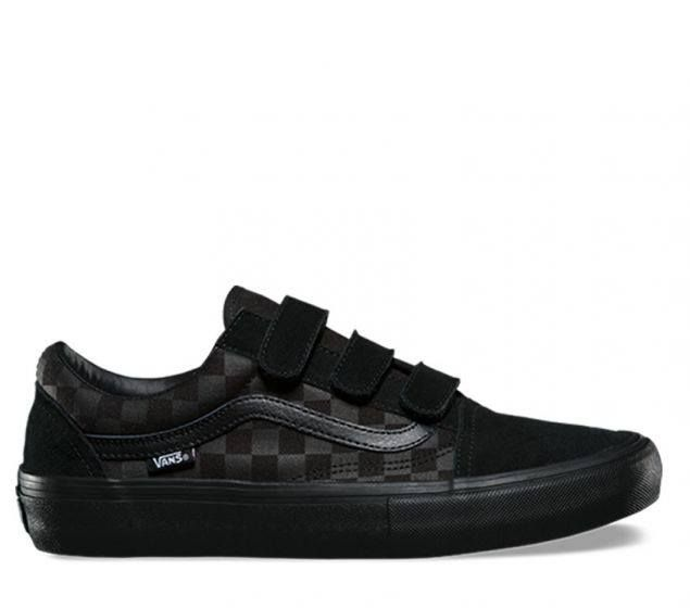 4de87652a8e840 Vans Shoes Old Skool PRO Rowan Zorilla Black Velcro Straps Skateboard  Sneakers