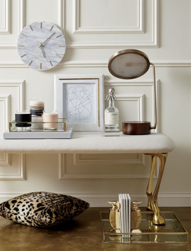 Carlo Marble and Brass Wall Clock + Reviews Decor