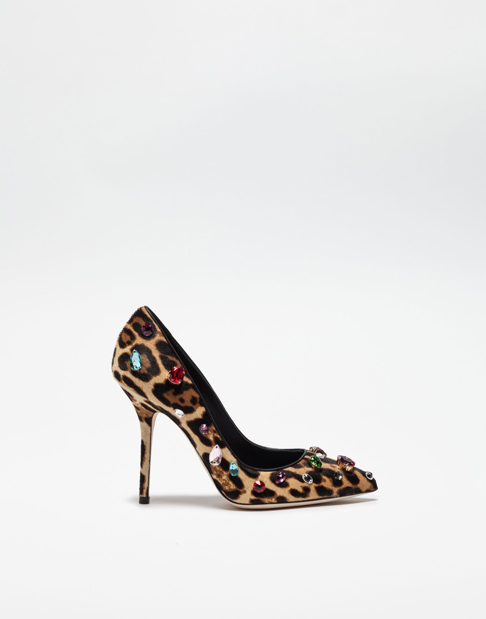 Pony Leo Decollete With Jewel Applications Dolce And Gabbana High Fashion Accessories Heels