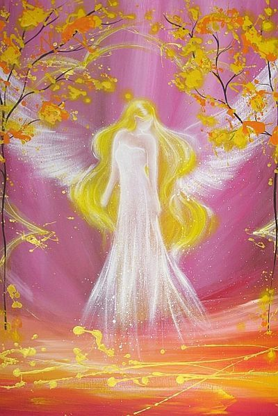 Limited angel art photo modern angel painting by HenriettesART, €10.00