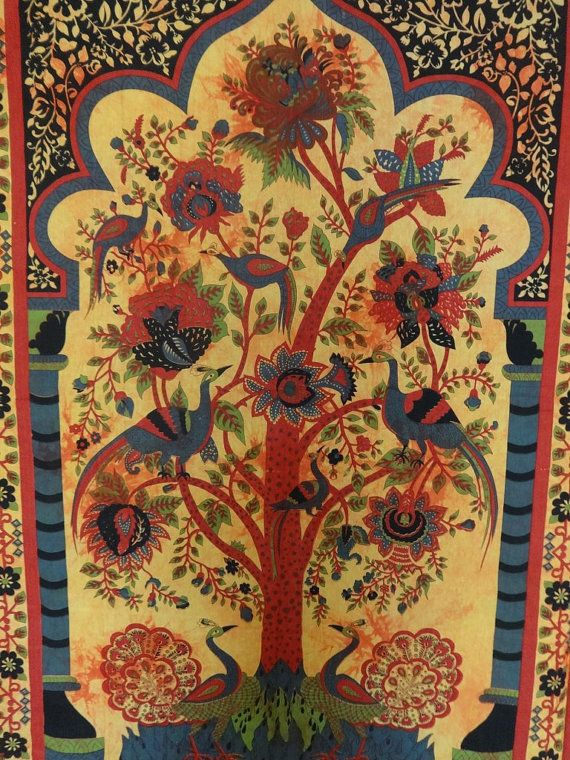 Psychedelic Tree Of Life Wall Art Tapestries, Bohemian Indian ...