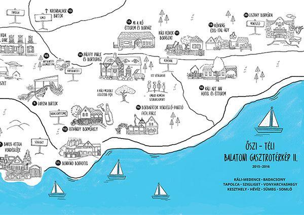 Balaton Gasztro Terkep Map Diagram Wanderlust